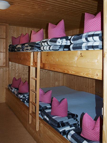 Matratzenlager hütte  Zimmer & Lager - Kemptner Hütte