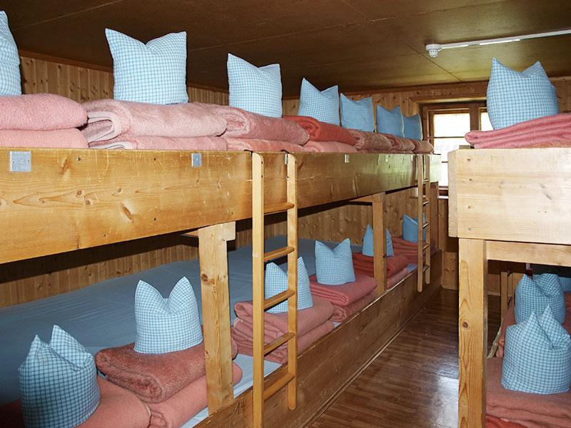 Matratzenlager Hütte